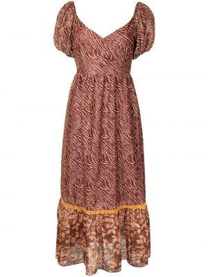 Czerwona sukienka mini z printem Sachin & Babi
