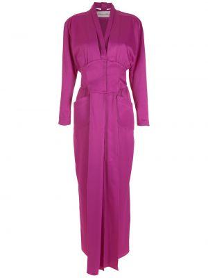 Платье макси длинное - фиолетовое Gloria Coelho