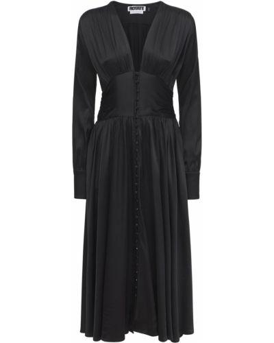 Платье миди с длинными рукавами - черное Rotate
