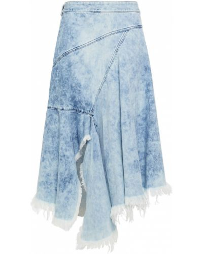 Niebieska spódnica midi asymetryczna bawełniana Marques Almeida