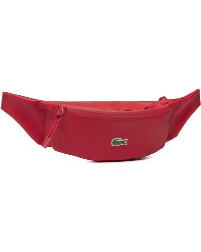 Czerwona torebka Lacoste