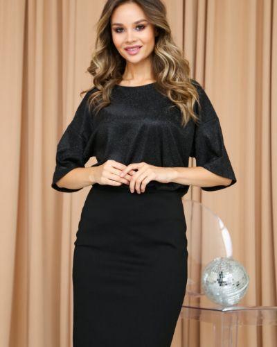 Нарядная с рукавами блузка с вырезом Ellcora