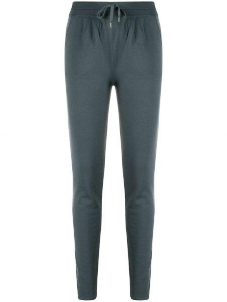 Кашемировые серые спортивные брюки эластичные Maison Ullens