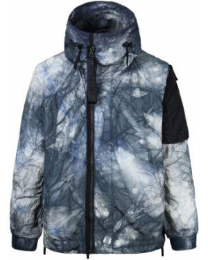 Prążkowana kurtka z kapturem z nylonu Nemen