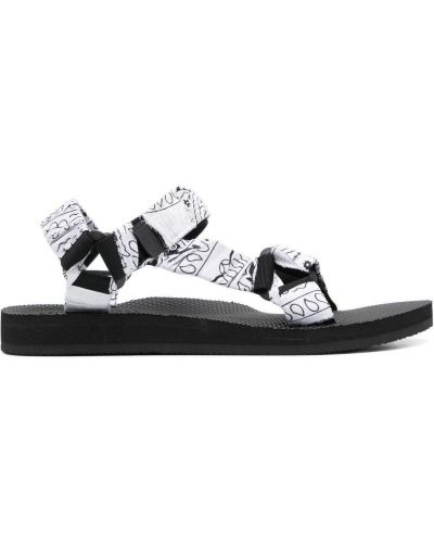 Czarne sandały peep toe klamry Arizona Love