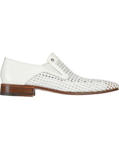 Кожаные туфли - белые Zilli