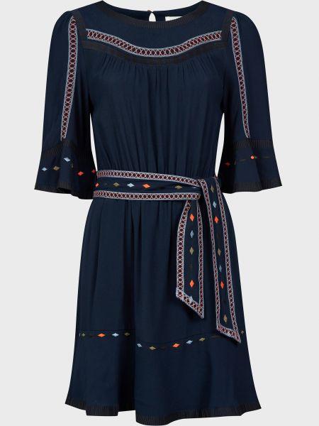 Платье на пуговицах - синее Ba&sh
