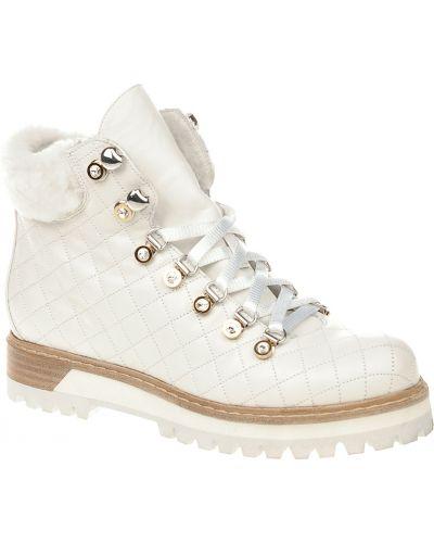 Белые ботинки на каблуке Le Silla