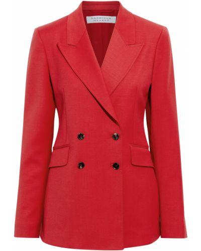 Шерстяной пиджак двубортный с карманами Gabriela Hearst