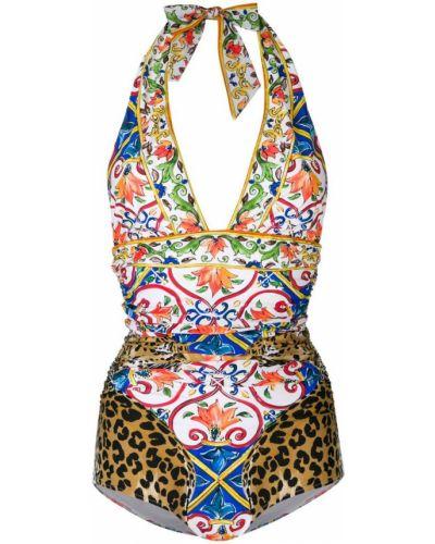 Костюм леопардовый с принтом Dolce & Gabbana