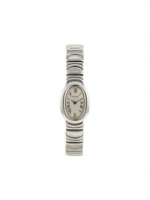 Белые кварцевые часы Cartier