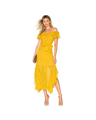 Платье миди с вышивкой на молнии Marissa Webb