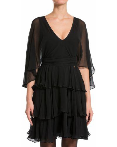 Шелковое платье - черное John Galliano