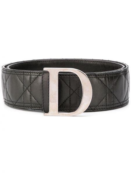 Czarny pasek z paskiem klamry Christian Dior