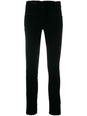 Кожаные черные зауженные брюки с поясом Haider Ackermann