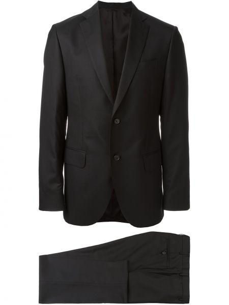 Czarny garnitur wełniany Fashion Clinic Timeless