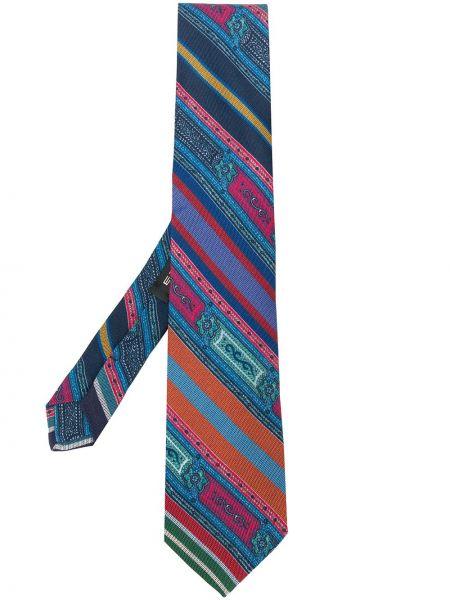 Jedwab niebieski krawat Etro
