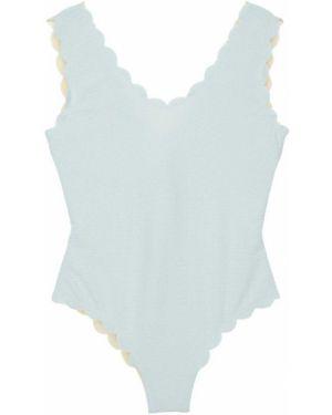 Strój kąpielowy prążkowany na szyi Marysia