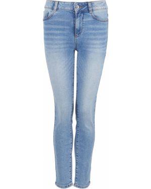 Синие зауженные пляжные джинсы с высокой посадкой с пайетками Tom Tailor