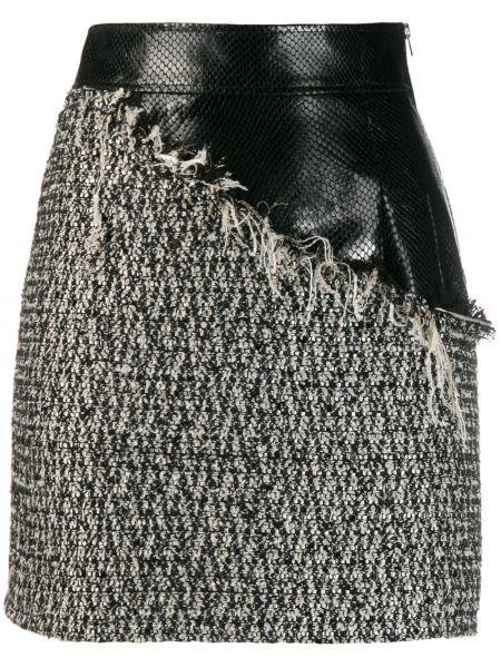 Юбка мини с завышенной талией твидовая Almaz