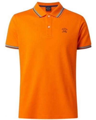 Pomarańczowa koszulka bawełniana Paul & Shark