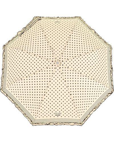 Бежевый зонт в горошек Moschino