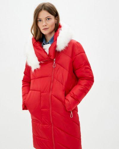 Теплая красная утепленная куртка Liana