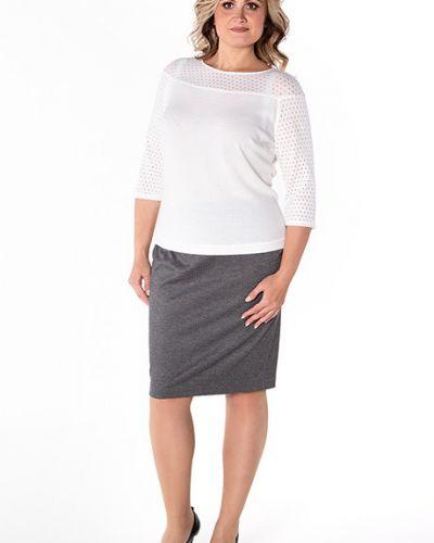 Блузка с рукавом реглан белая Virgi Style