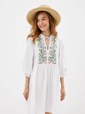Прямое платье - белое Mbym