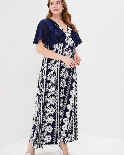 Синее платье весеннее Kr