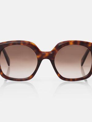 Коричневые солнцезащитные очки Céline Eyewear