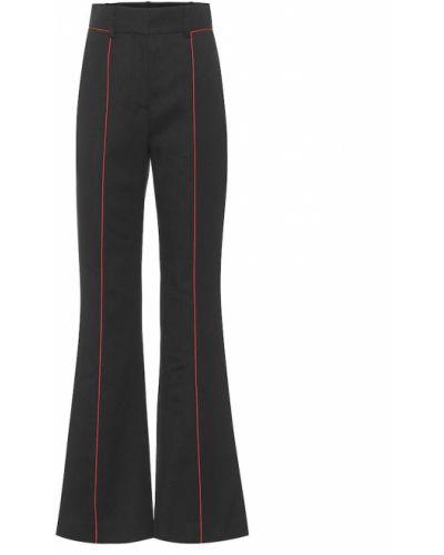 Wełniany czarny rozbłysnął spodnie zabytkowe Givenchy