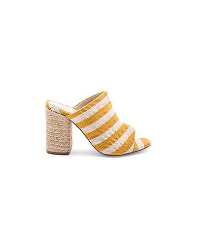 Желтые мюли на каблуке Raye