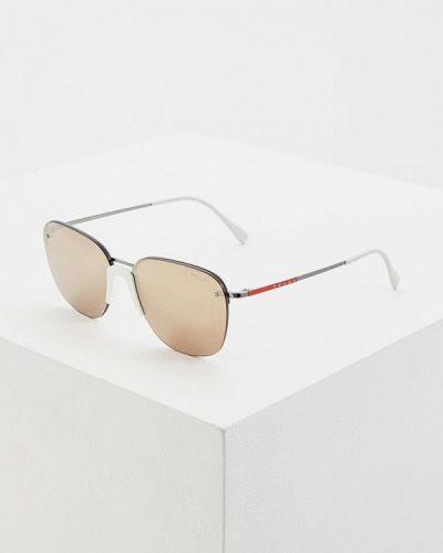 Солнцезащитные очки белый итальянский Prada Linea Rossa