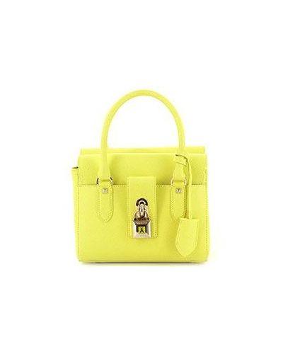 Кожаная сумка вечерняя желтый Patrizia Pepe