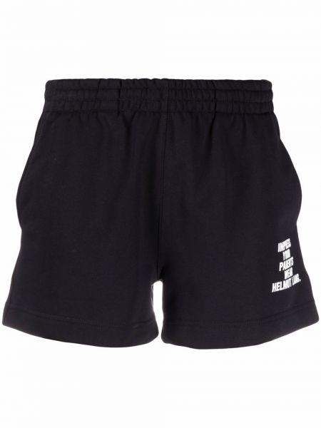 Хлопковые черные шорты с поясом Helmut Lang