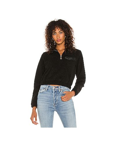 Кожаный черный свитер на резинке David Lerner