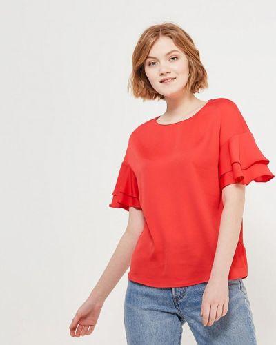 Красная блузка с рюшами Love Republic