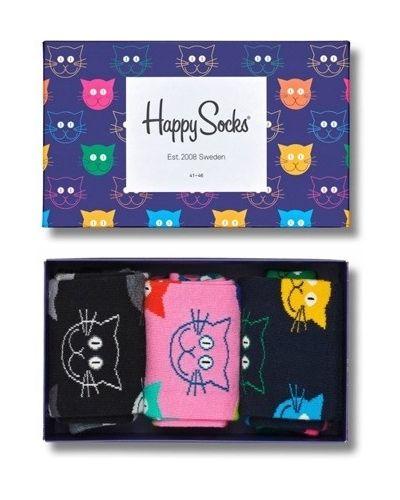 Czarne skarpety bawełniane Happy Socks
