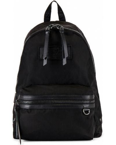Nylon czarny plecak prążkowany przeoczenie Marc Jacobs