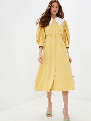 Желтое платье рубашка Sister Jane