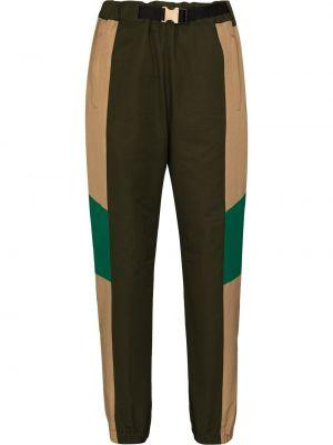 Укороченные брюки - зеленые Sacai