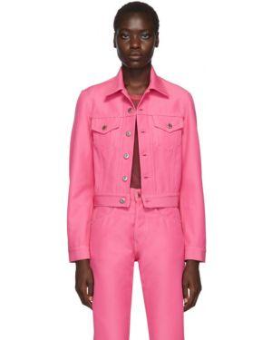 Джинсовая куртка длинная розовая Helmut Lang