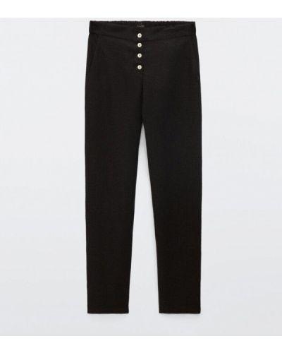 Черные брюки повседневные Massimo Dutti
