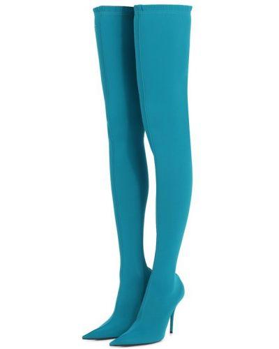 Кожаные сапоги сапоги-чулки на шпильке Balenciaga