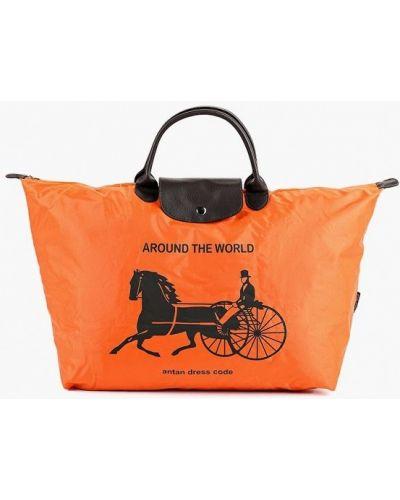 Оранжевая дорожная сумка Antan
