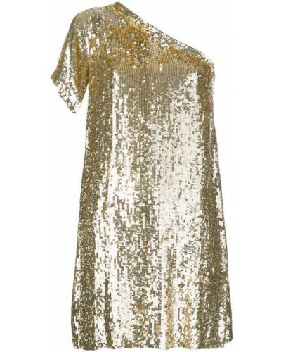 Вечернее платье с пайетками желтый P.a.r.o.s.h.