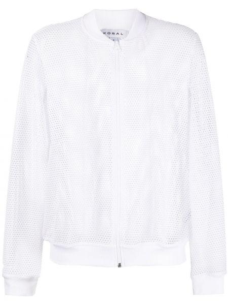Базовая белая длинная куртка с длинными рукавами Koral