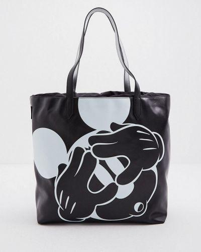 Черная сумка шоппер Iceberg