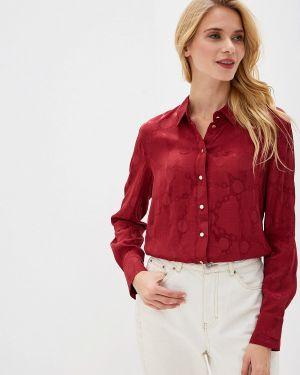 Блузка с длинным рукавом бордовый весенний Vittoria Vicci